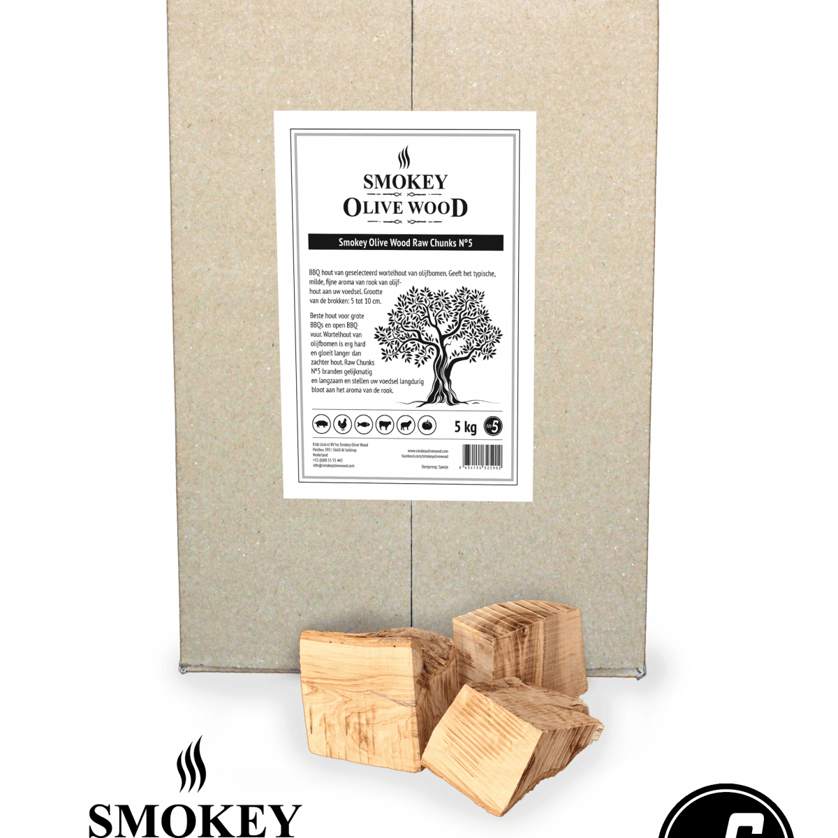 Smokey Olive Wood chunks Nº 5