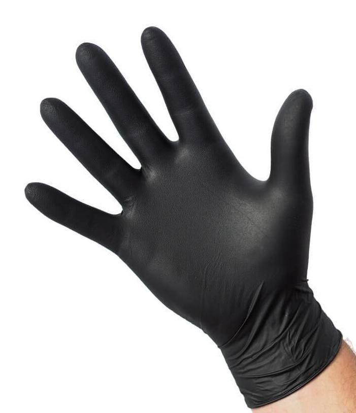 Nitril handschoen poedervrij zwart